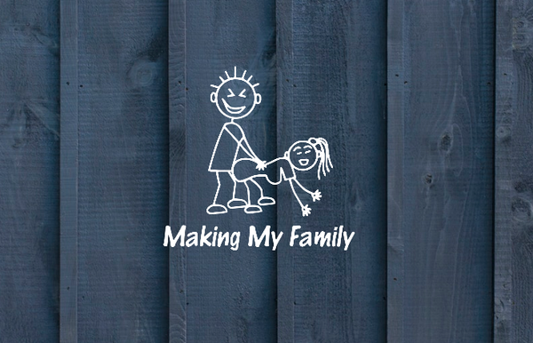 Family car decal, funny decal, humor decal, nasty decal, prank decal, family decal - CCCreationz