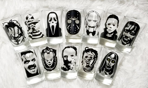 halloween party shot glasses