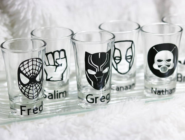 Marvel Groomsman Gift, Marvel Set, Bar Glass Set, - CCCreationz