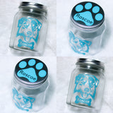 Personalized Dog Jar, Custom Dog Treat container, Dog Treat Jar, Dog Christmas, Cookie Jar - CCCreationz