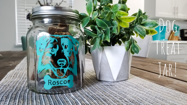 Dog treat jar personalized