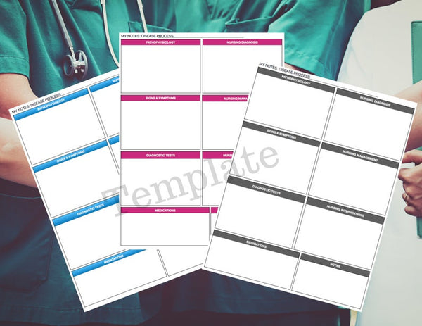 Nursing school templates