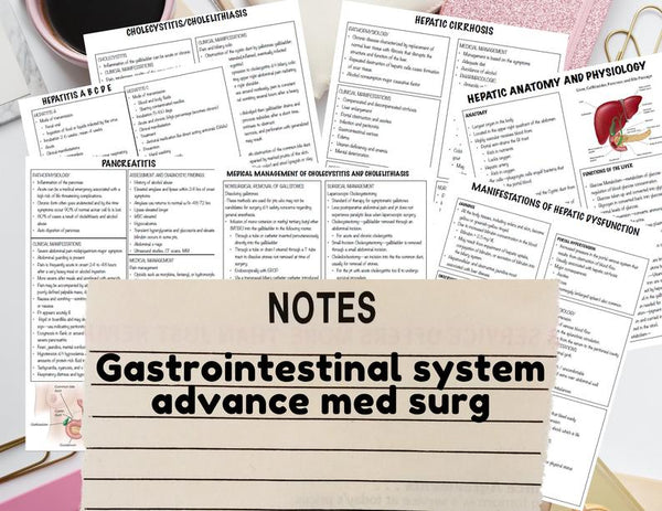 Gastrointestinal System - Nursing Notes Digital