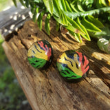 Afrocentric Earrings, Afrocentric Jewelry, Rastafarian Jewelry, Egyptian Earrings, Black Girl Magic - CCCreationz