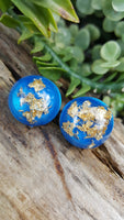 Gold Foil Resin Color Pop Earrings - CCCreationz