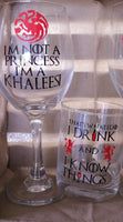 Game of Thrones inspired Wine Glass - CCCreationz