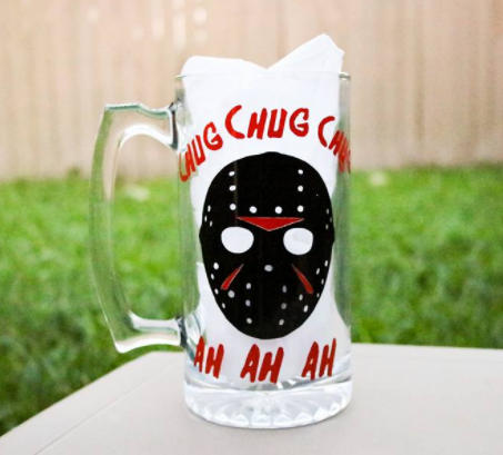Chug Chug Chug Jason 28oz Beer Mug - CCCreationz