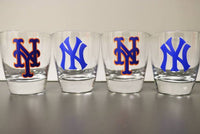 Yankees and Mets set, New York, Personalized Cups, Gift for him, world series, New York Mets - CCCreationz