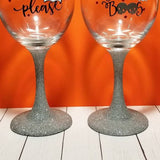 Halloween Glitter Wine Glasses / Booze / Boo's - CCCreationz