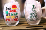Christmas/ Holiday wine glasses - CCCreationz