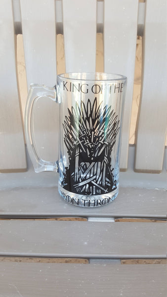 Game of Thrones Beer Mug, Iron throne, Personalized, Grooms Gift, Valentines Gift, Gift for him - CCCreationz