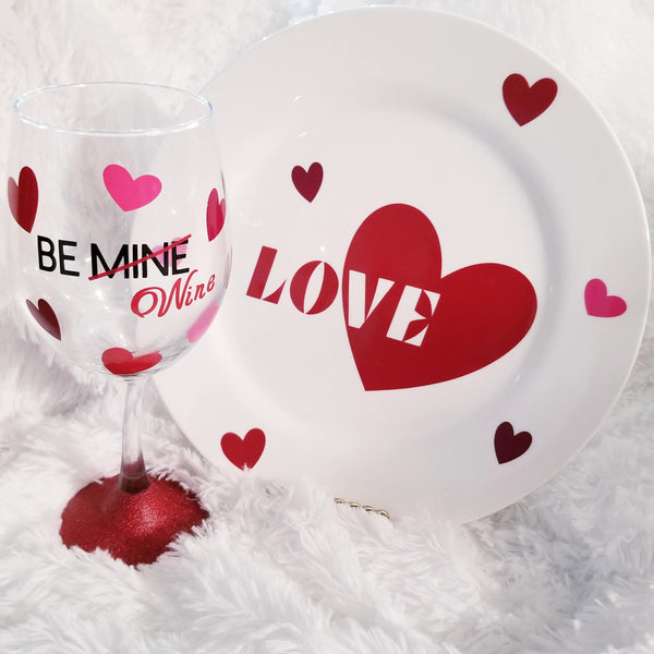 AntiValentine's Gift, Funny Wine Glass, Anti Valentines Day, Singles Gift, Friends Gift, Valentine for Her, Valentine's Day Gift, BE MINE - CCCreationz