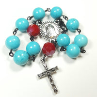 Rosary, Crucifix, Protection, Communion Gift, Cross Jewelry, Custom Rosary, Gift for her - CCCreationz