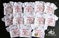 Monthly onsie, baby first year, baby milestone, custom , personalized onesie, onesie set - CCCreationz