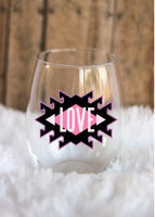 Love Wine Glass, Mother's Day Gift, Gift for Her, Love Wine Glass, Custom Wine Glass, Wedding Favor - CCCreationz