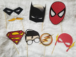 DC Photo Props, Birthday Favors, Super Hero, Spider man, Batman, Green Arrow, super man - CCCreationz