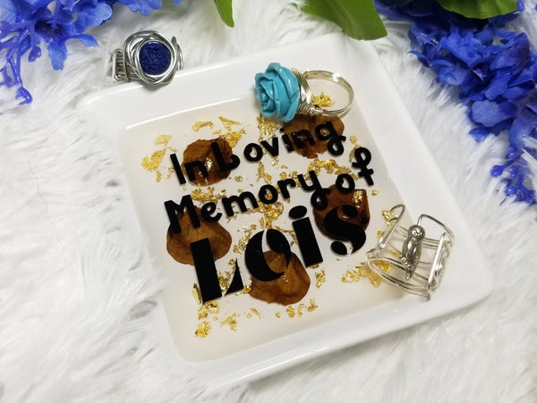 Ring Dish, Memory Keeper, Cremation, In loving memory, Loss of a loved one, Grieving gift - CCCreationz