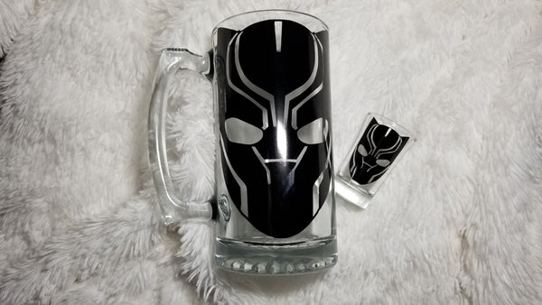 Black Panther Beer Mug, Marvel gift, Black Panther gift, Beer Mug, Personalize gift, gift for him - CCCreationz