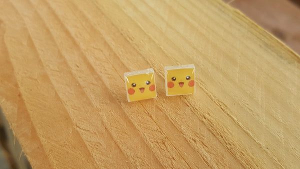 Pikachu earrings, Pokemon Earrings, Pokemon Jewelry, Pikachu gift, Pokemon gift, Pickachu stud - CCCreationz