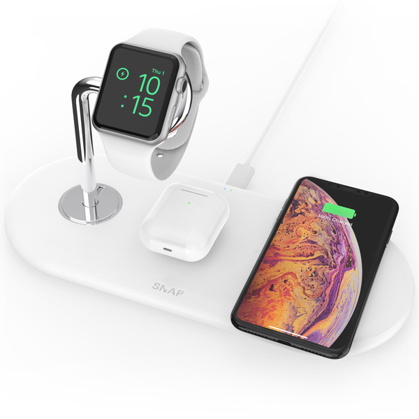 PowerBase - 3-in-1 Wireless Charger - SnapWireless