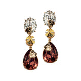 Wine & Gold Danglers