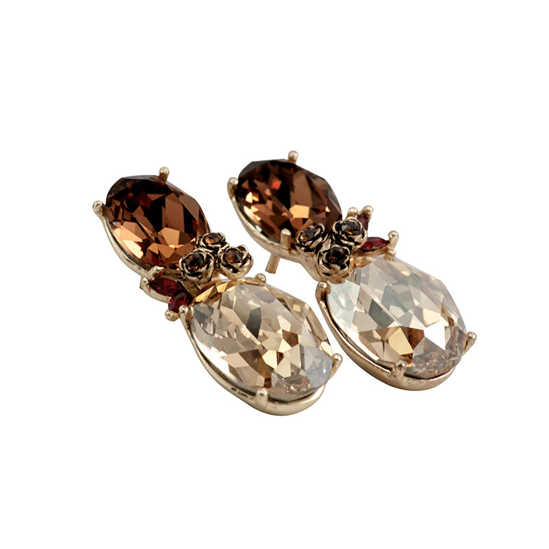 Golden Caramel Classic Earrings