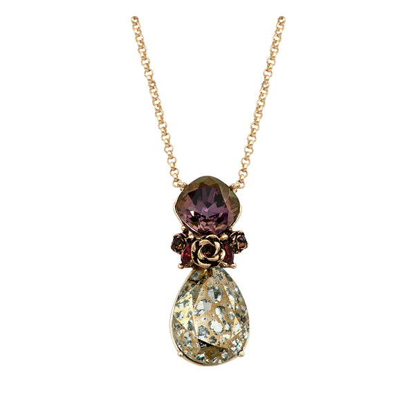 Plum and Gold Tones in Pendant