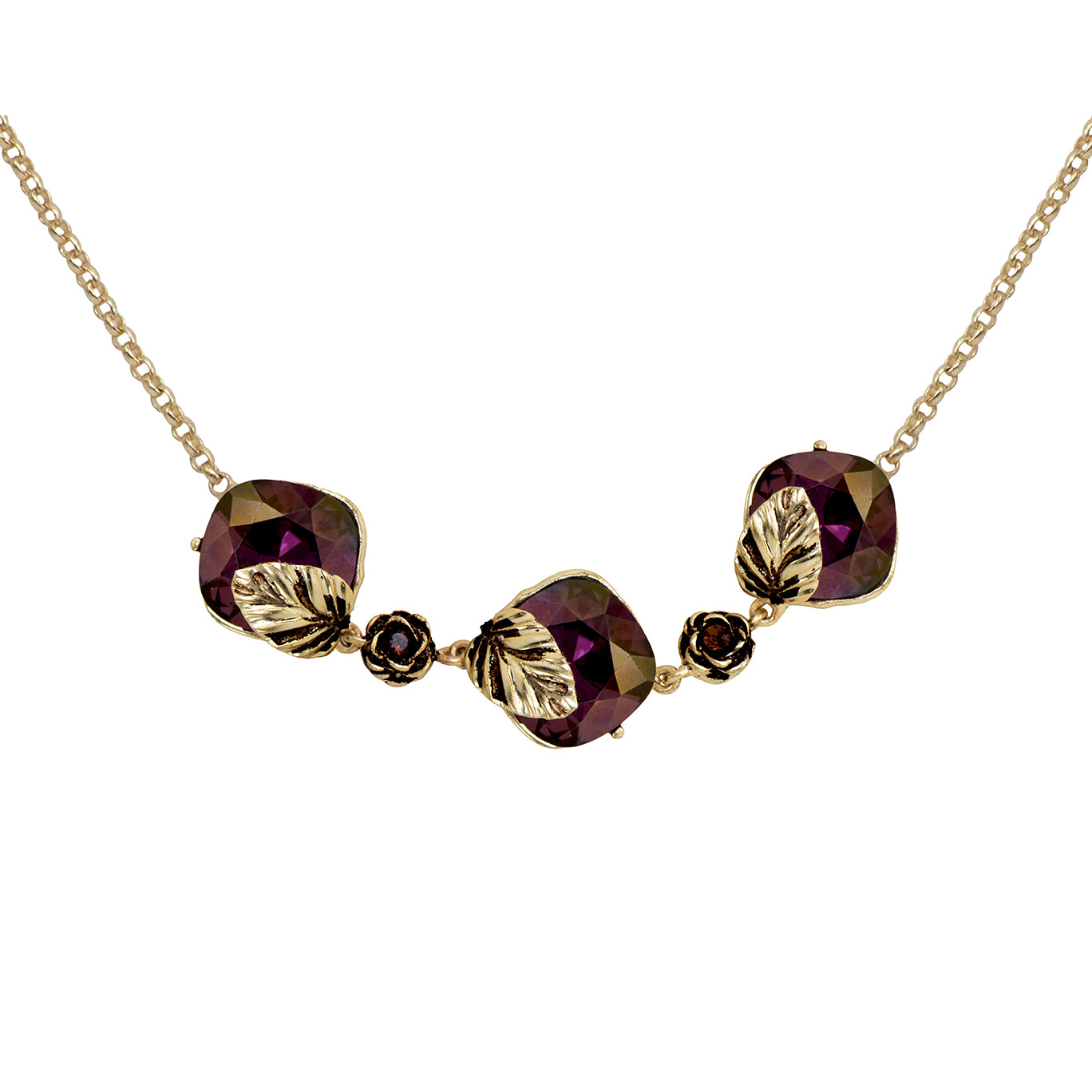 Plum Autumn Necklace