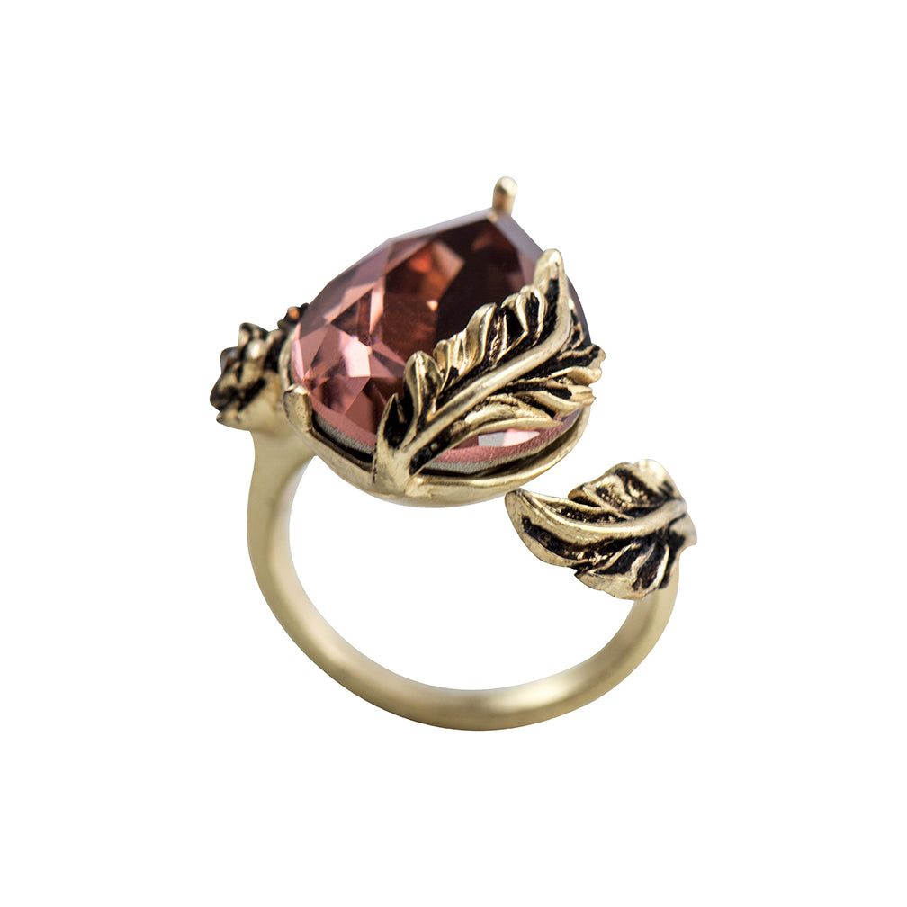 Wine Red Statement Ring