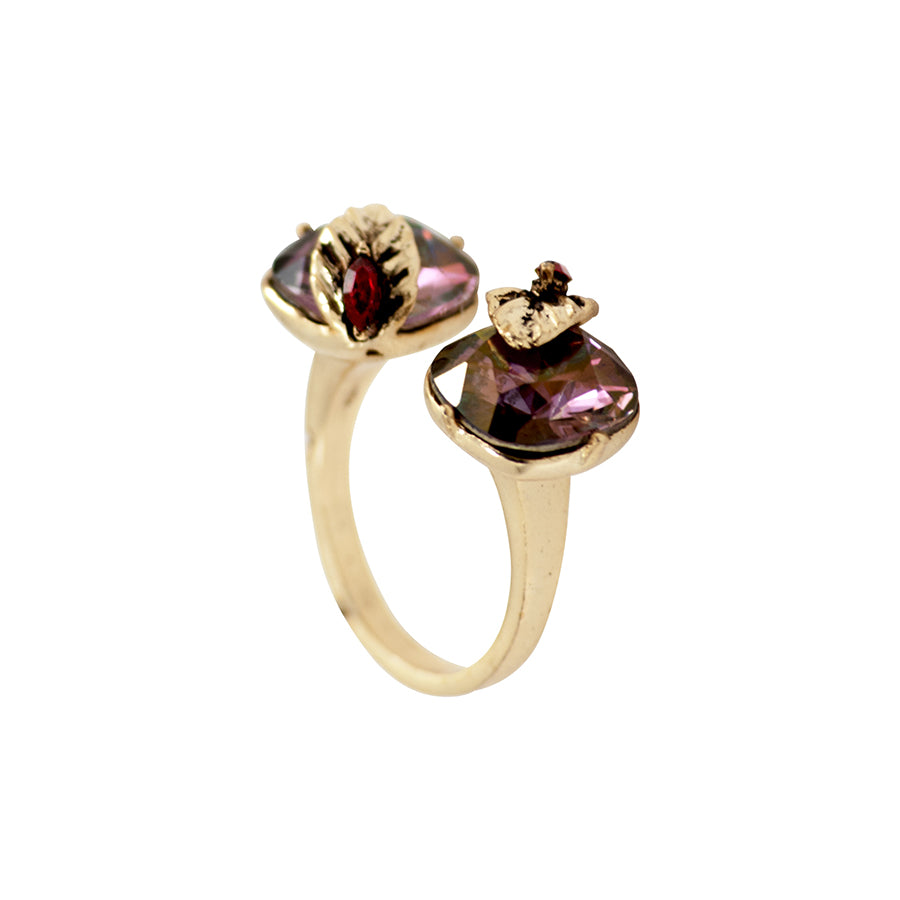 Plum Open Ring
