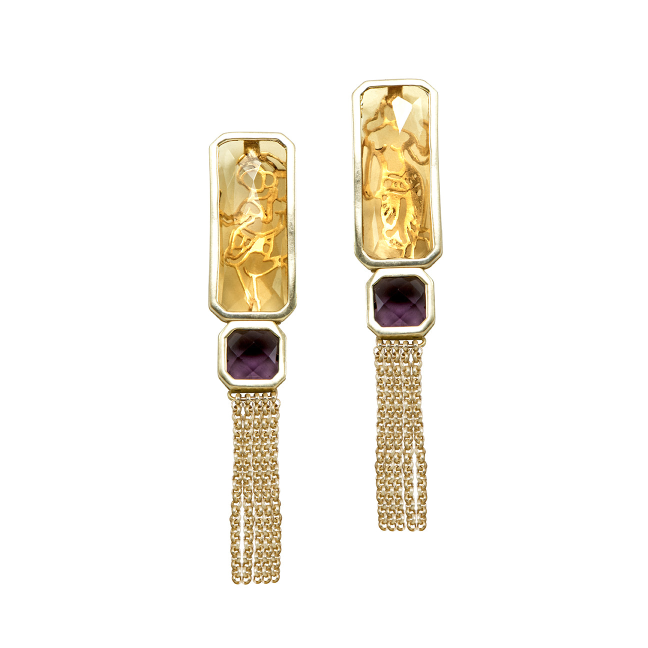 Mohini Earrings with Drapes
