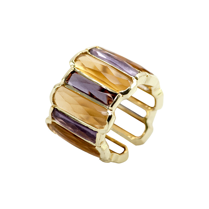 Mohini Gold and Purple Ring