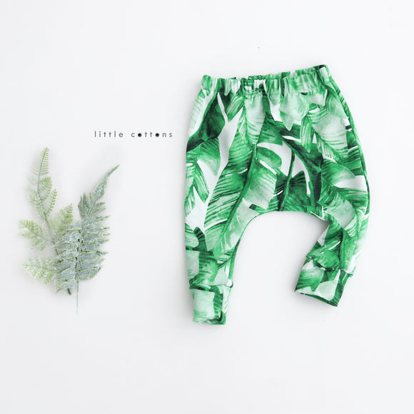 Banana Leaf Harem Leggings - {Baby 0 - 1 yr}