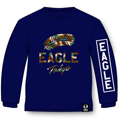 EAGLE CAMOLOGO LONG TEE NAVY