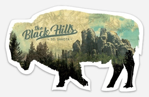 Black Hills Buffalo Vinyl Sticker