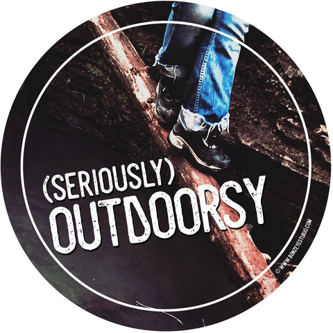 Seriously outdoors sticker
