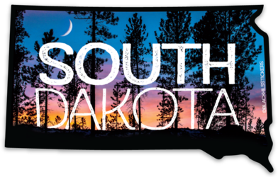 South Dakota Sunset Sticker