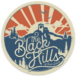 Black Hills Round Sticker