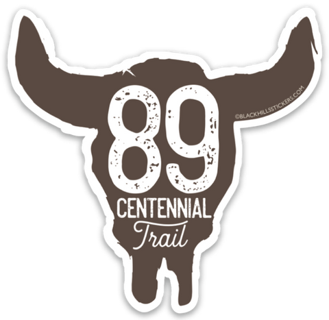 89 Centennial Trail Sticker (small)