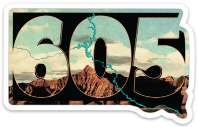 605 Badlands Sticker