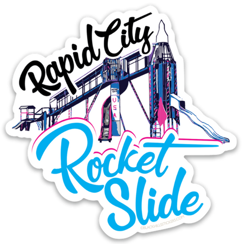 Rapid City Rocket Slide Sticker