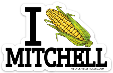 I (corn) Mitchell Sticker