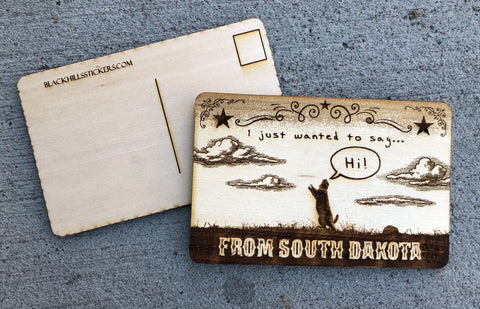 Hi from SD Wood Postcard