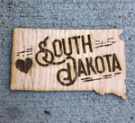 South Dakota Love Wood Sticker