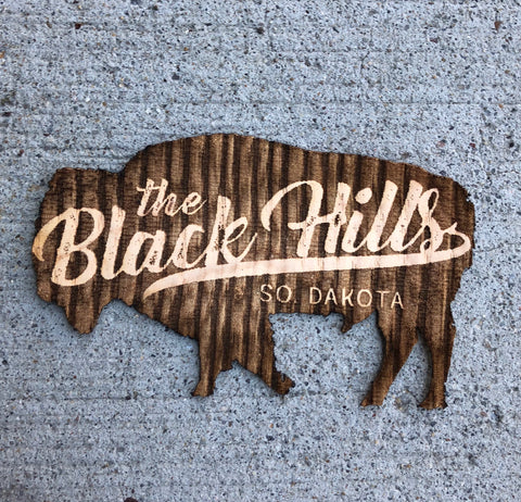 Black Hills Buffalo Wood Sticker