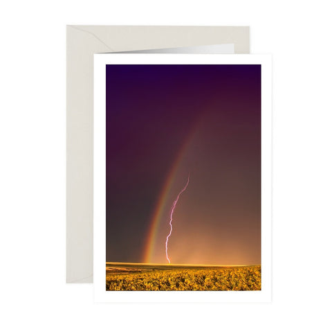 Rainbow Lightning NoteCard