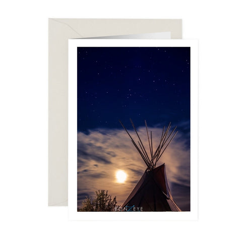 Tipi Note Card