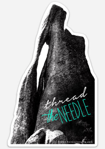 Thread the needle sticker
