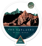 Badlands Round Sticker