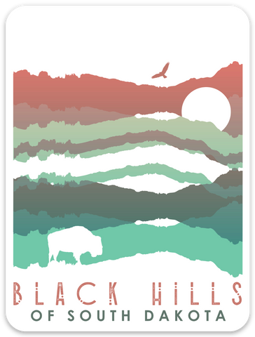 Black Hills Stack Sticker